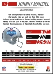Panini America 2014 NFL Draft Johnny Manziel Back