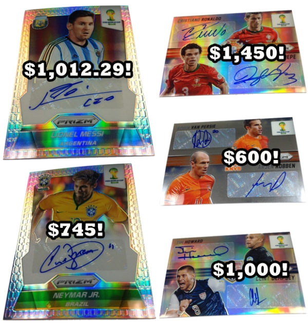Panini America FIFA World Cup Brazil Prizm Staggering Prices Main