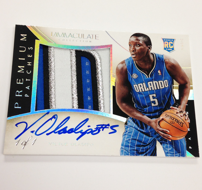 13/14 Panini Immaculate Premium Patches Victor Oladipo Rookie