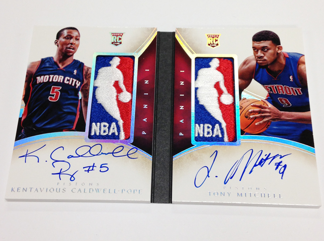 13/14 Panini Immaculate Booklet Logoman Caldwell Pope Mitchell Rookie