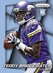 Panini America 2014 Prizm Football Bridgewater Blue Wave Prizm