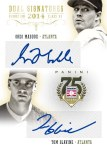 Panini America 2014 Hall of Fame 75th Anniversary Baseball Maddux Glavine