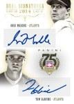 Panini America 2014 Hall of Fame 75th Anniversary Baseball Maddux Glavine