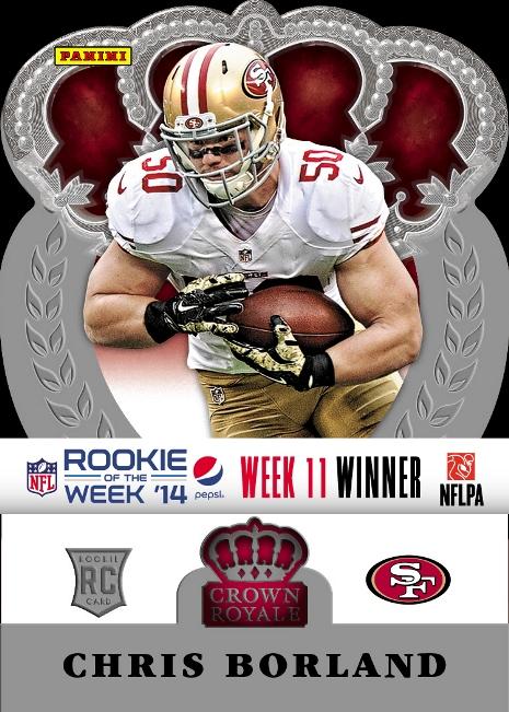 2014 Pepsi NFL Rookie of the Week Week 11 Borland Winner
