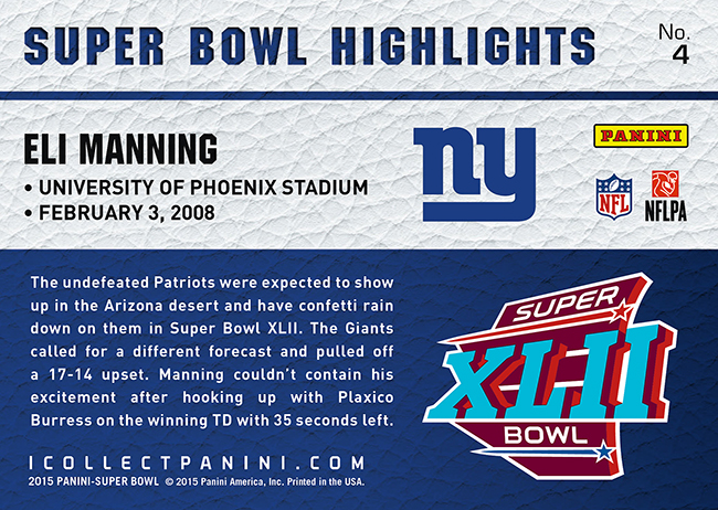 Panini america to deliver exclusive card set for super bowl xlix nfl