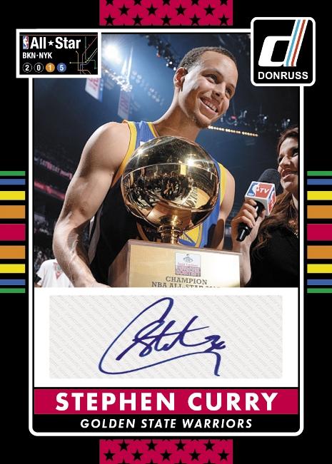 Panini America 2014-15 Donruss Basketball Trade-In Steph Curry Auto