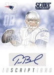 Panini America 2015 Score Football Tom Brady Inscriptions
