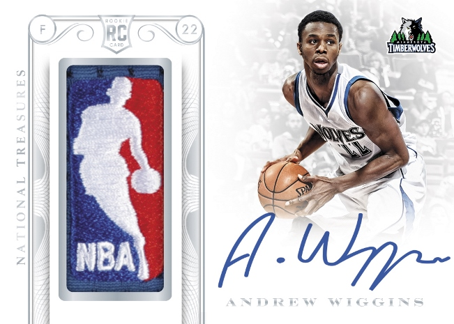 2014/15 Panini National Treasures Basketball Andrew Wiggins RC 1/1 | Cherry Collectables | NBA Trading Cards | Melb CBD