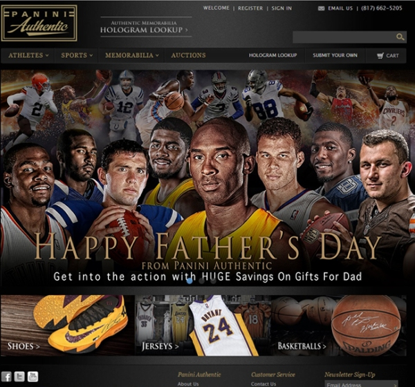 Panini Authentic Father's Day