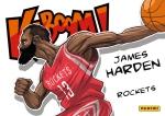 Panini America 2014-15 Excalibur Basketball Kaboom James Harden