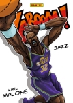Panini America 2014-15 Excalibur Basketball Kaboom Karl Malone