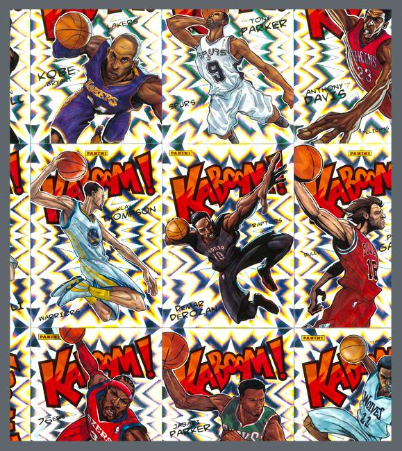 Panini America 2015 Excalibur Basketball Kaboom Master Gallery Main