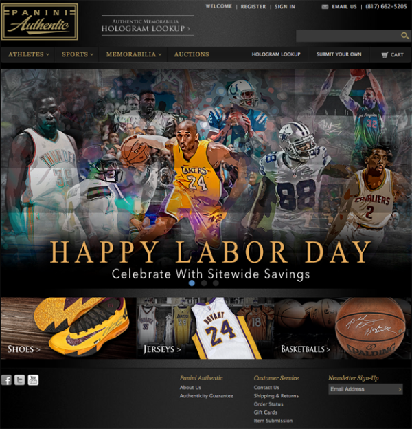 Panini Authentic Labor Day 2015