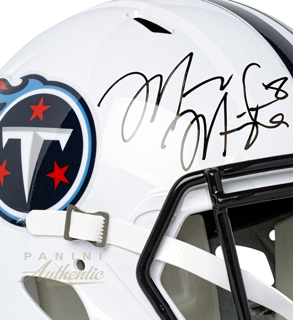 Panini Authentic Mariota Helmet 3
