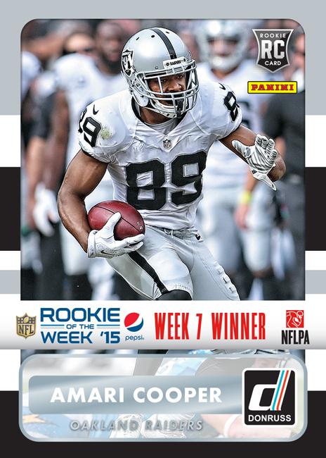 Panini America 2015 Pepsi NFL Rookie of the Week Jameis Winston Week 7 Winner