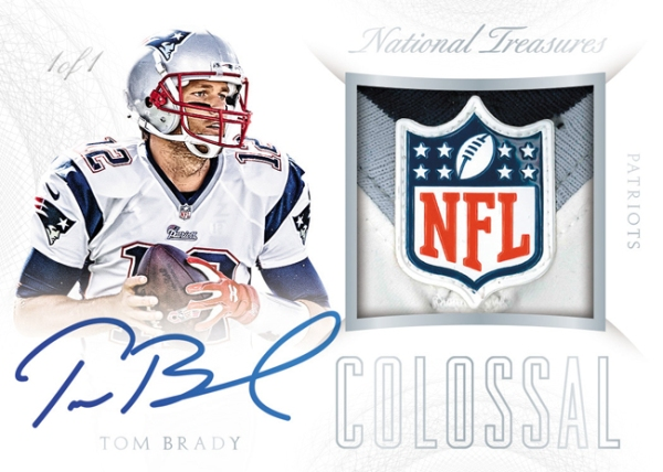 Panini America 2015 National Treasures Football Brady