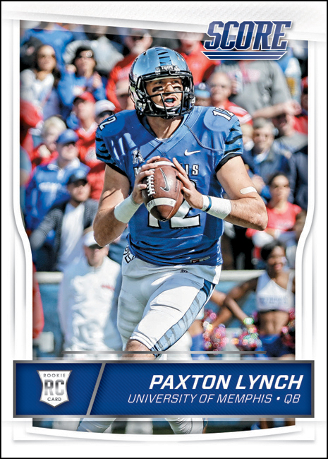 Panini America 2016 Score Football Paxton Lynch BLOG