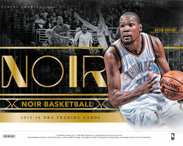 Panini America 2015-16 Noir Basketball Main