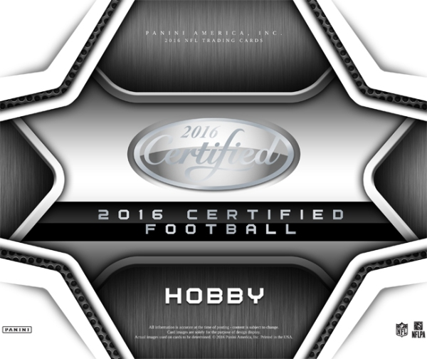 Panini America 2016 Certified Football Main