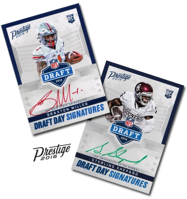 Panini America 2016 Prestige Football Ink SPs