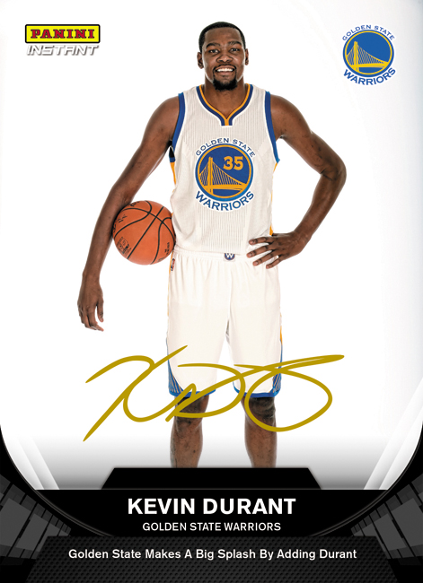 Panini Instant Kevin Durant Warriors Auto