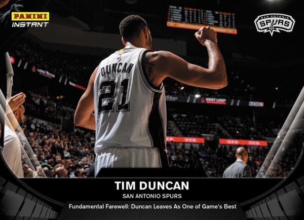 Panini Instant Tim Duncan Retires