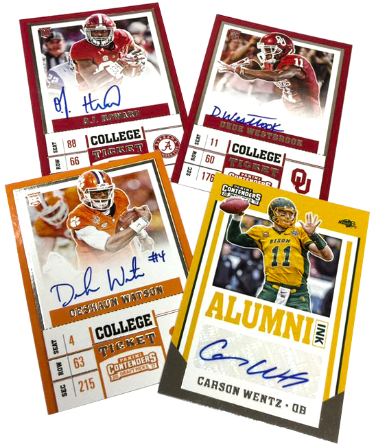 Panini America 2017 Contenders Draft Picks Football SPs