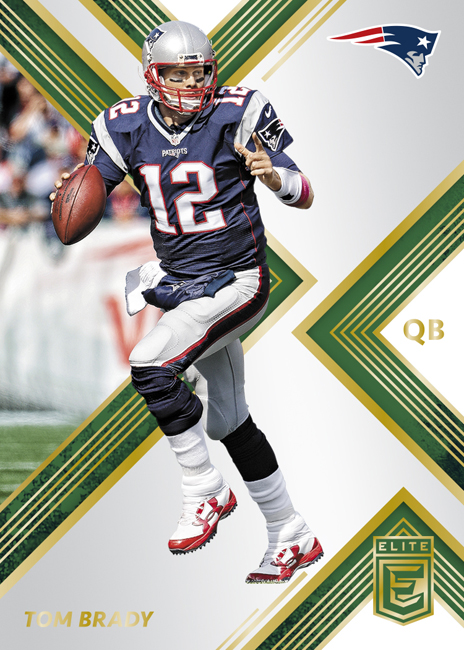 Panini America 2017 Donruss Elite Football Tom Brady Green