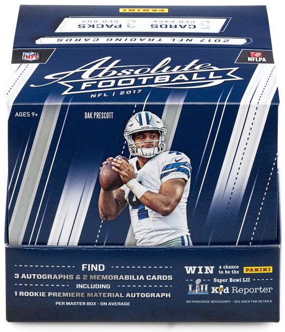 Panini America 2017 Absolute Football QC1