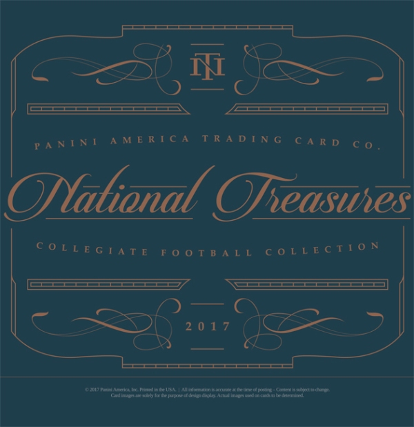 Panini America 2017 National Treasures Collegiate Football Main