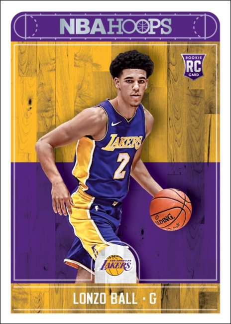 Panini America 2017-18 NBA Hoops Basketball Lonzo Ball