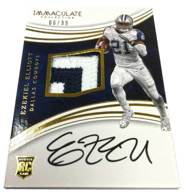 2a05151c5 Panini America Finishes Remake Project for Immaculate Football Ezekiel  Elliott RPAs