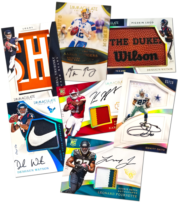 Panini America 2017 Immaculate Football Packout Peek Main
