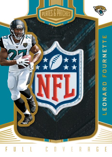 Panini America 2017 Plates & Patches Football Leonard Fournette