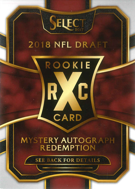 2017 Select Football Mystery Autograph