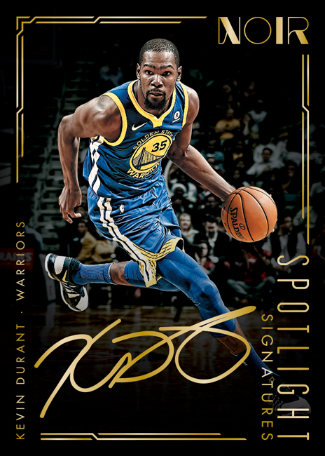 Panini America 2017-18 Noir Basketball Kevin Durant