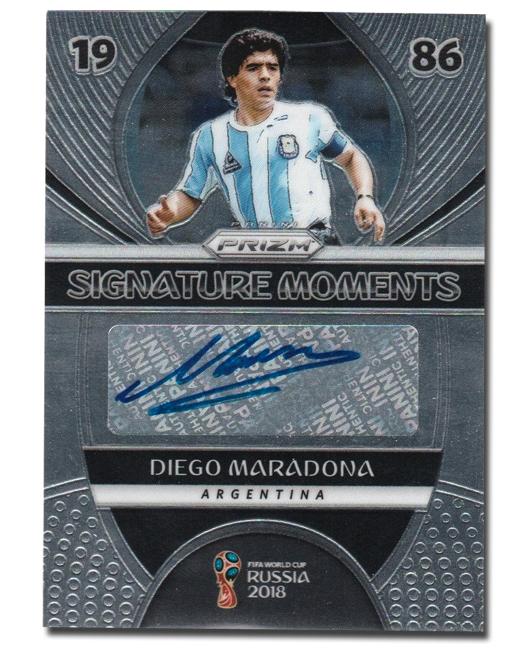 Panini America 2018 FIFA World Cup Prizm Diego Maradona Auto SP