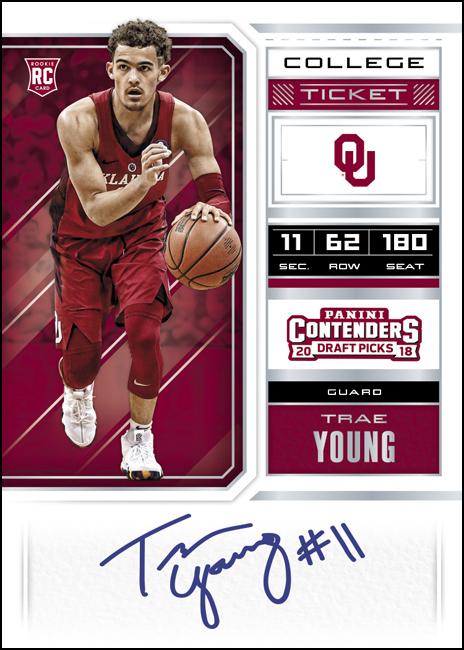 Panini America 2018 Contenders Draft Picks Basketball Trae Young