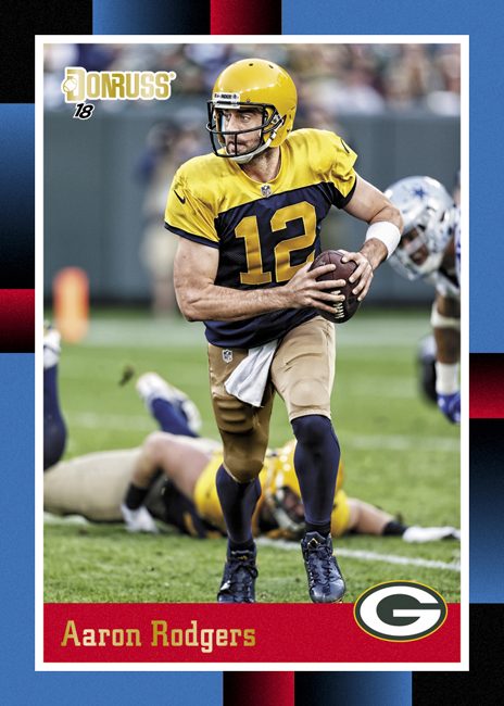 Panini America 2018 Donruss Football Aaron Rodgers 88 Tribute