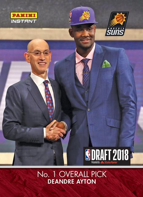 Panini Instant 2018 NBA Draft Deandre Ayton BLOG