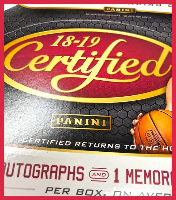 Panini America 2018-19 Certified Basketball QC2