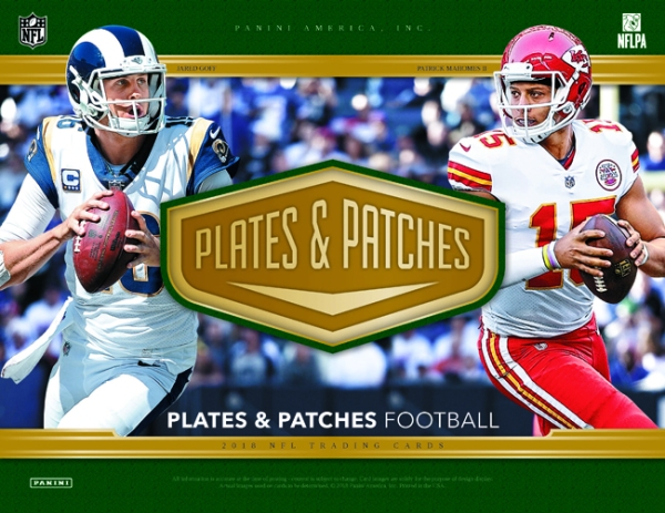 Panini America 2018 Plates & Patches Football Main